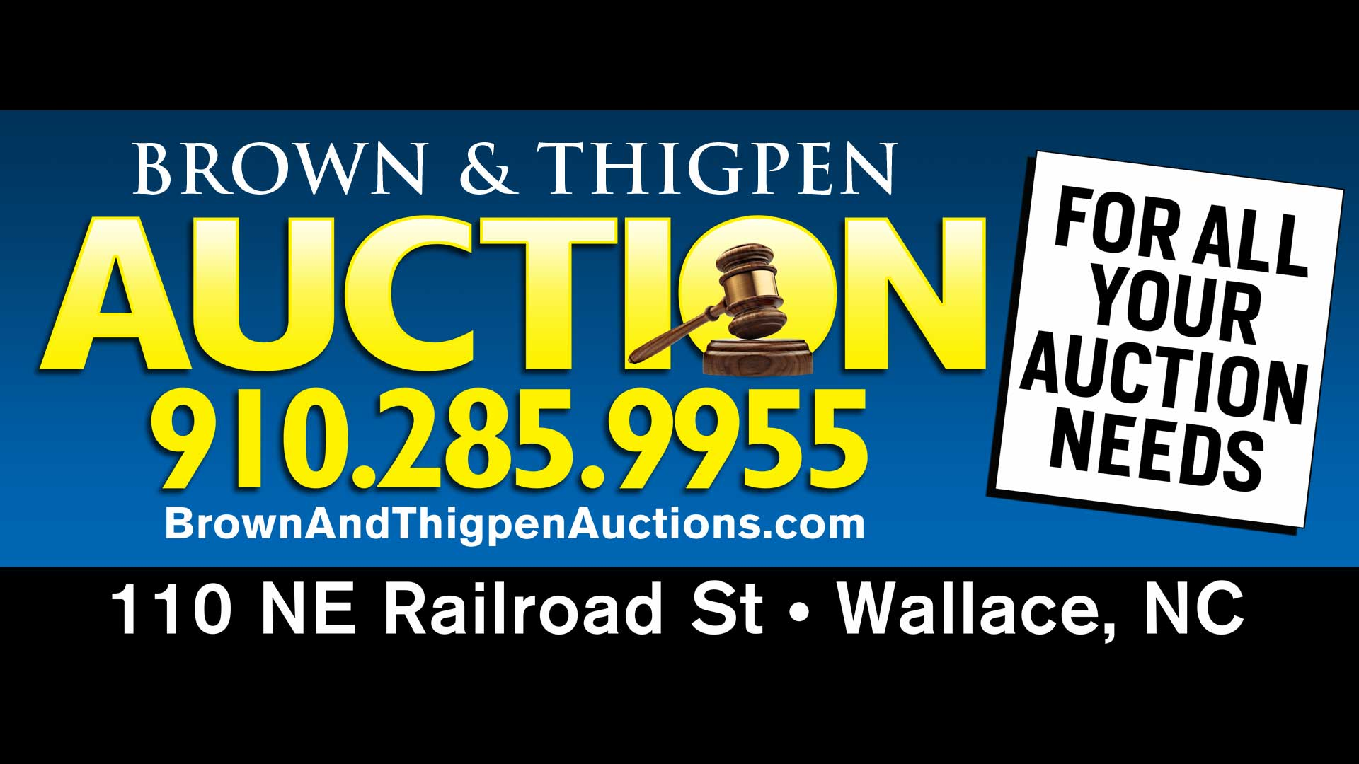 Brown & Thigpen Auctions-Auction House for Wilmington Jacksonville & ENC
